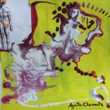 Cabalo. Tamaño 22 x 22 cm. Técnica mixta sobre papel.