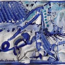 Cicloen. Tamaño 29,30 x 21,70 cm. Técnica mixta sobre papel.
