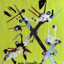 X. Tamaño 22 x 22 cm. Técnica mixta sobre papel