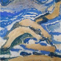 El abismo.Tamaño 80 x 49,5 cm. Técnica mixta sobre lienzo
