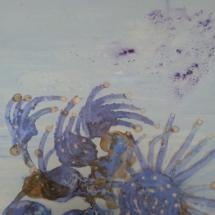 Estrellas de mar. Tamaño 100 x 80 cm. Técnica mixta sobre lienzo.