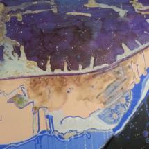 La grieta. Tamaño 80 x 100 cm. Acrílico sobre lienzo.