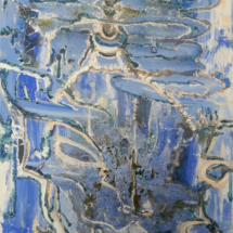 Planeta Chimenea. Tamaño 100 x 80 cm. Técnica mixta sobre lienzo.
